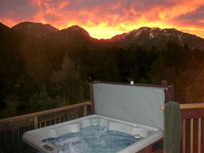 Photo for Casa Cielo private wooded setting, Sweeping mountain views Hot Tub-Wifi