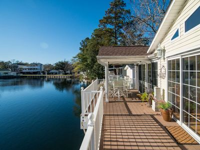 Photo for Ocean Lakes Lakefront Palace - Private Hot Tub & Golf Cart Credit Included!