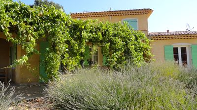 Photo for Pretty Provencal villa with swimming pool, in Regusse.  in Provence