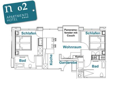 Photo for n 02 2-4 persons - ground floor - approx. 58 m2 - n Apartments Hotel ****