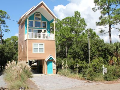 Photo for Lofty View - 2 Bed / 2.5 Bath Gulf Side Home near Indian Pass