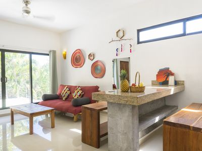 Photo for Naturally Well-Lit 1 Br Apartment with terrace within Tulum's most vibrant area