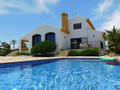Photo for Magical Location !! Ocean front Beach Villa in Cabo Roig with Private pool