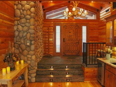 Photo for Stunning cabin in a 400 acre gated wooded park close to Pinecrest & Dodge Ridge