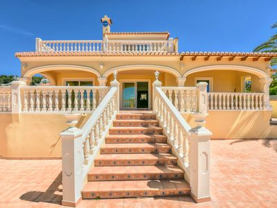 Photo for Villa sleeps up to 14, private pool, games room, superb view of calpe and sea