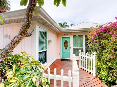 Photo for Beautiful cottage w/ private pool - walk to the beach, dining, and Bayfront Park