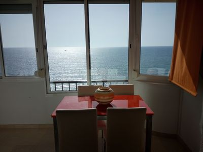 Photo for Apartment 1st line beach in Mil Palmeras
