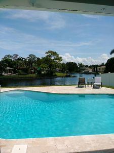 Photo for Stunning Waterfront Oasis with Pool