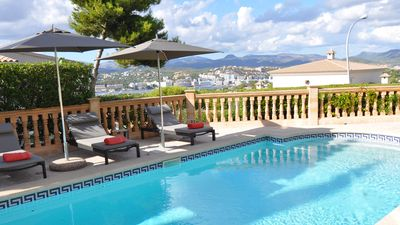 Photo for Quality Villa, views of Santa Ponsa Bay, heated pool and fully airconditioned