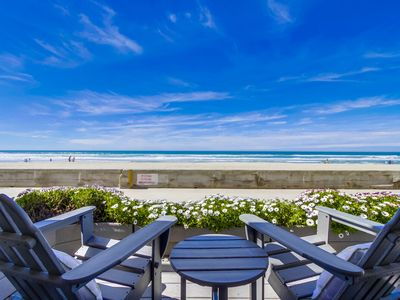 Photo for OCEANFRONT | FAMILY BEACH CONDO| Private Oceanfront Patio!