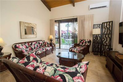 An Oasis of Comfort - After long, hot days in the sun, you and your guests will want nothing more than to relax and cool off, and the living area at Kamaole Sands 2-406 is more than fit to do so!