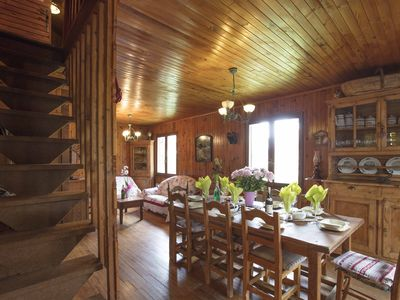 Photo for Rustic chalet in the charming mountain resort of Montgenèvre