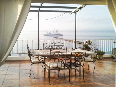 Photo for Beautiful apartment Marseille, large terrace with sea views, 4 people