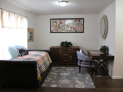 Photo for 1 BR - 1 BA UPSCALE CROSSTOWN PRIVATE ENTRANCE W/ HOT TUB SLEEP 4
