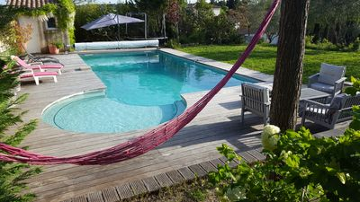 Photo for villa pool 210m2 on 1500m2 paradise for young and old between sea and cevene