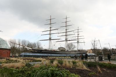 The Cutty Sark ship is right outside the apartment window