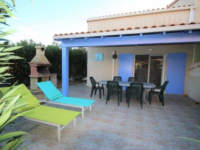 Photo for Lovely spacious corner villa, 4 bedrooms,for 10 people, secured residence with pool, PORTIRAGNES...
