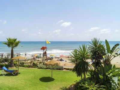 Photo for Beachfront Apartment / Beach Apartment with swimming pool for 2-4 persons
