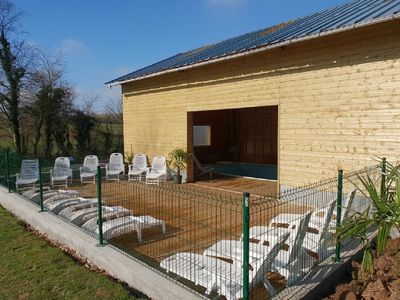 Photo for 3 independent cottages for 13, 9 and 5 people with heated indoor pool