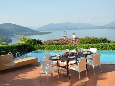 Photo for Verbano is a wonderful property in Lake Maggiore, with amazing lake view, private pool, 4 bedrooms