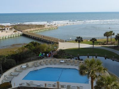 Photo for Wow ! Oceanfront ,Leather, Hardwood, Aqua Granite-Includes Beach Chair Rental!