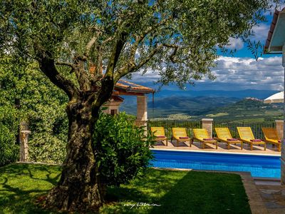 Photo for Private Villa in Vizinada with a stunning view