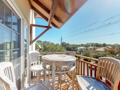 Photo for Spacious coastal home w/lake & Gulf views from private balcony - dogs ok!