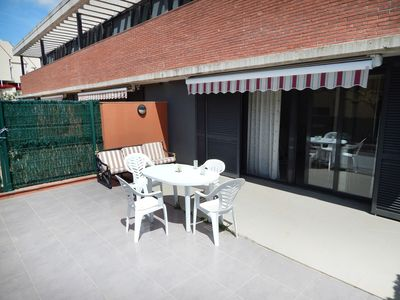 Photo for Platja d Aro Apartment with large terrace and community pool