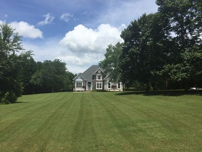 The front yard is ideal for fun games, or just running around with the family.