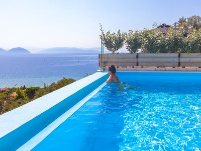 Photo for Get a 10%Off At ModernVilla Maria with Pool&Views in Vasiliki Lefkada Until 18/7