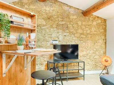 Photo for Lovely atypical Studio in the heart of CASTELLANE - with A/C