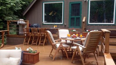 Photo for -Peaceful Eclectic Cabin, WiFi, Hot tub,pets welcome