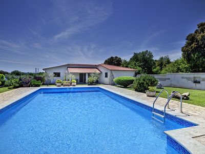 Photo for Beautiful apartment with outdoor pool, 2 bedrooms, air conditioning, WiFi, BBQ and great outdoor terrace