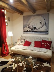 Photo for Very nice comfortable apartment for 4 people near ski slopes and all amenities.