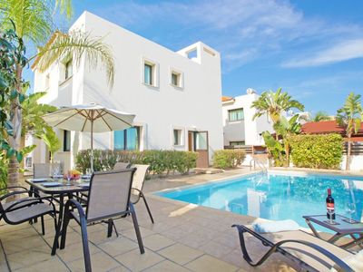 Photo for This 4-bedroom villa for up to 8 guests is located in Paralimni and has a private swimming pool, air