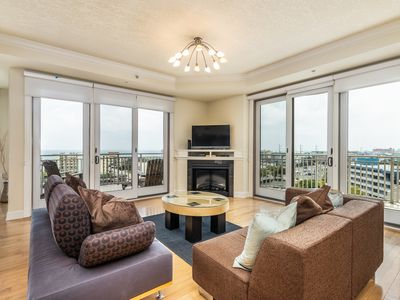 Photo for Luxurious condo w/ balconies, views, plus shared pools & fitness center