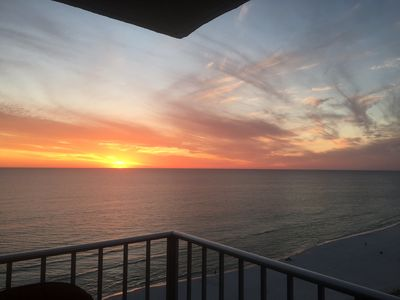 Sunset view from the balcony