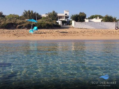 Photo for JUMP IN THE BLUE with direct access to the sandy beach of Monopoli - PUGLIA