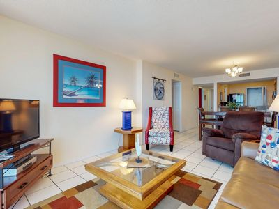 Photo for Bright, waterfront condo in a gated resort w/ shared pools, tennis courts, & gym