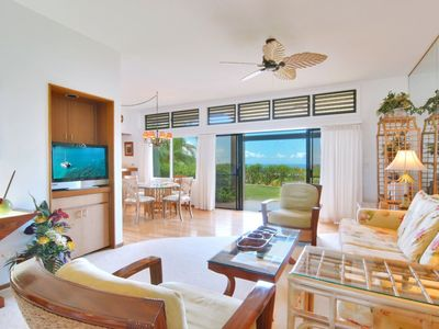 Photo for The villa features stunning handmade Koa Wood furniture, and exotic ocean views!