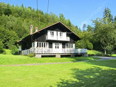 Photo for Chalet with warm interior at the edge of forest with space and privacy in fascinating area