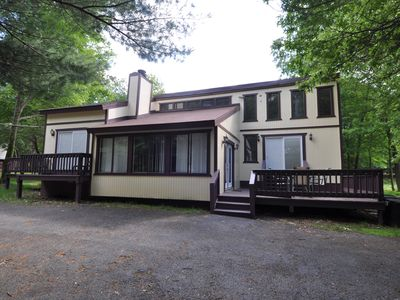 Photo for Perfect Getaway In The Poconos! (House #1) HotTub !! Gameroom!! WiFi !!