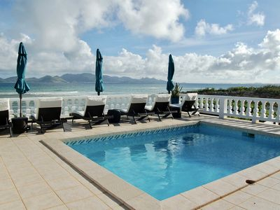 """Photo for """"Lockrum Point"""" Oceanfront Villa   3 Bed/3 Bath/ Pool   Rest. Relax. Retreat."""