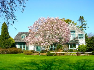 Photo for Hamptons/WTM/ English Cottage/Private/Mecox Bay View/Beautiful Gardens/Pool/Pond