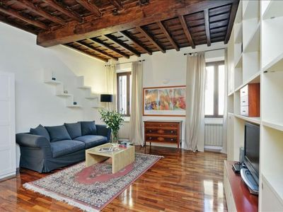 Photo for Vicolo de' Cinque C  apartment in Trastevere with WiFi, integrated air conditioning & balcony.