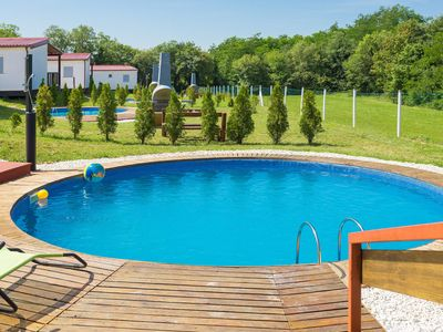 Photo for This 3-bedroom villa for up to 6 guests is located in Porec and has a private swimming pool, air-con