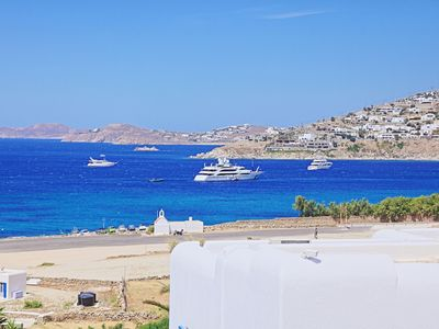 Photo for Maganos DekaEpta:Mykonos Apartment, close to the sea, breakfast included, shared pool