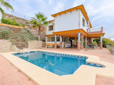 Photo for Quiet Holiday Home Cortijo la Encina with Pool, Air Conditioning, Wi-Fi & Terraces; Parking Available, Pets Allowed