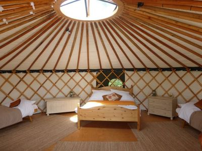 Photo for Isolated 'Chestnut' Yurt in West Sussex countryside