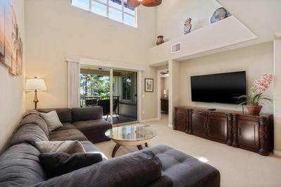 Sectional couch & flat screen TV